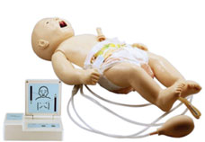 Full-Functional Neonatal CPR & Nursing Manikin with monitor
