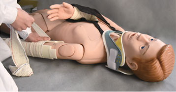 Spectrum Impex :: Standard Patient for external fixation Training Simulation  in first Aid of Limb Fracture